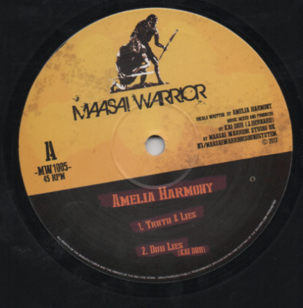 Amelia Harmony - Truth and Lies/ Dub Lies / Trials & Tribulations / Dub Trials (Maasai Warrior) UK 10""